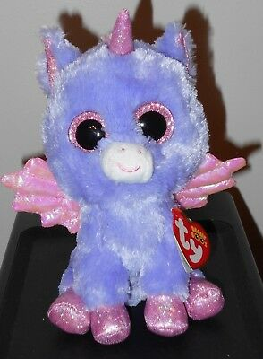 "TY Beanie Boos ~ Athena the 6"" Purple Pegasus - Exclusive - FREE SHIPPING ~ MWMT"