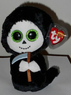 Ty Beanie Boos - GRIMM the Halloween Ghost w/ Sickle (6 Inch) MINT with MINT TAG