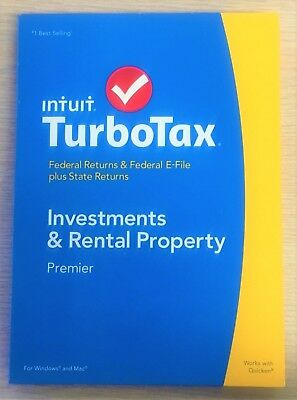 Turbotax Premier 2014 Federal   State Investment   Rentals  Better Than Deluxe