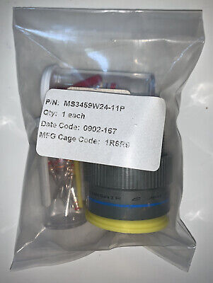 New Amphenol Corsair Circular Mil Spec Connector Ms3459w24-11p Sealed Package