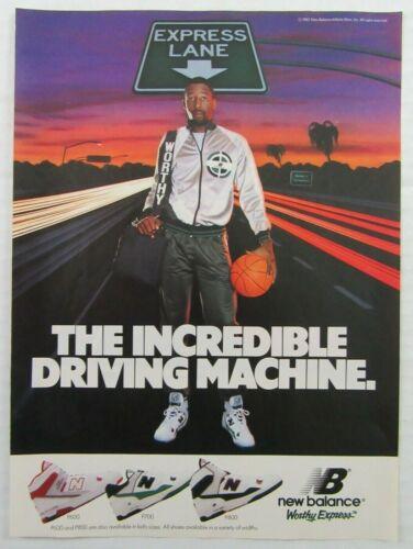 1988 NEW BALANCE Worthy Express Shoes JAMES WORTHY Basketball Magazine Ad