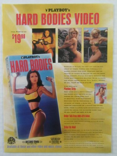 1996 PLAYBOY Hard Bodies Video VHS Magazine Ad