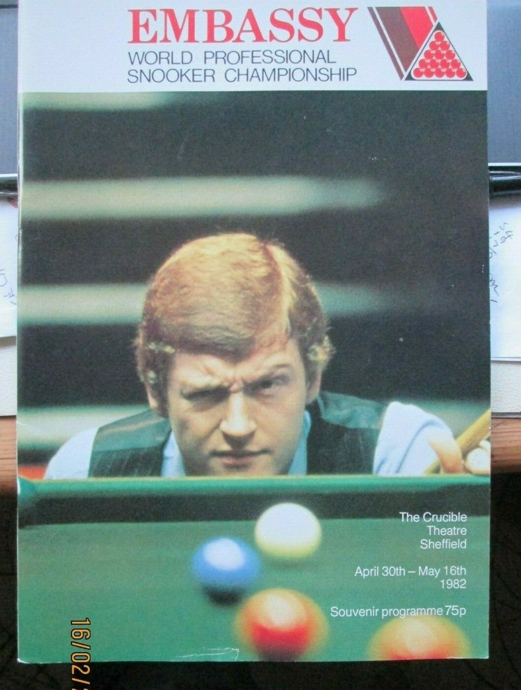 1982 Embassy World Snooker Championship Programme FREE POST