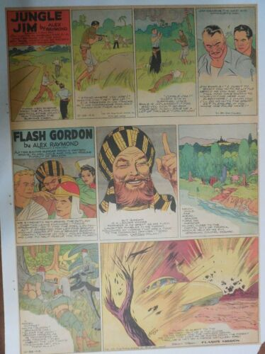 Flash Gordon Sunday by Alex Raymond from 12/26/1943 Large Full Page Size !