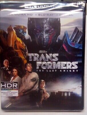 Transformers The Last Knight (4K ULTRA HD + Blu-ray + Digital) Brand New
