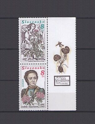 SLOVAKIA, EUROPA CEPT 1996, FAMOUS WOMEN with LABEL, MNH Womens Famous Label