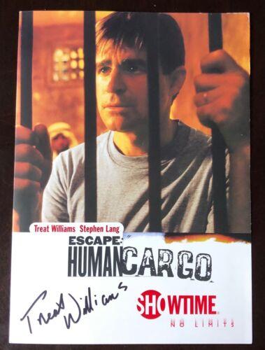 SUPER RARE Escape: Human Cargo TREAT WILLIAMS SIGNED Premiere Invite