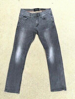 SuperDry Men's Copper Black Denim Corporal Slim Black Fade Jeans | 32 W x 30 L