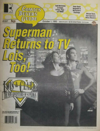 Comics Buyers Guide #1037 Oct 1993 Superman Returns to TV Lois & Clark