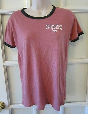 PINK By Victoria's Secret Top SMALL Womens Pink T shirt Logo Dog Shirt New - Logo Womens Pink T-shirt