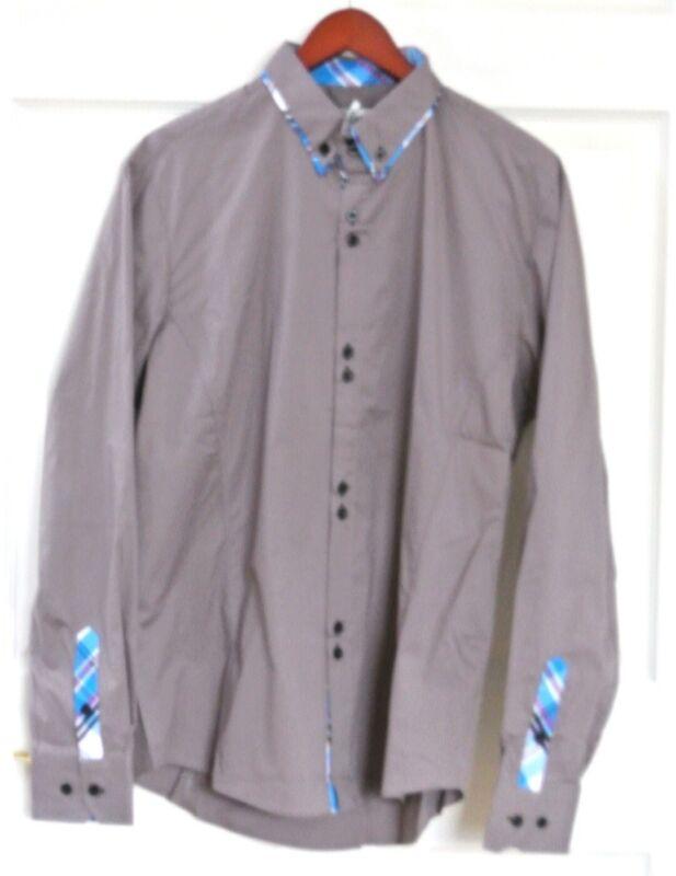 Men's Tom's Ware Longsleeve Shirt Button Front Flip Cuff NWT