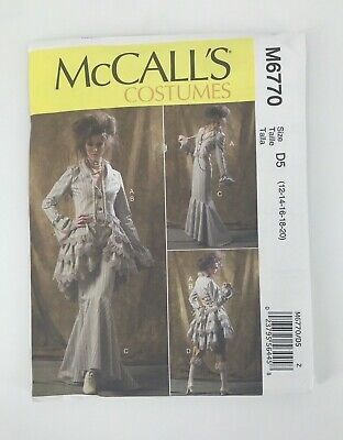 McCalls sewing pattern Womens Steampunk Costume Size D5 12-20 Jacket Skirt