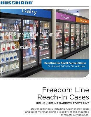 Hussman 3 Door Refrigerator Self-contained Freedom Line Model Rflns Year 2015
