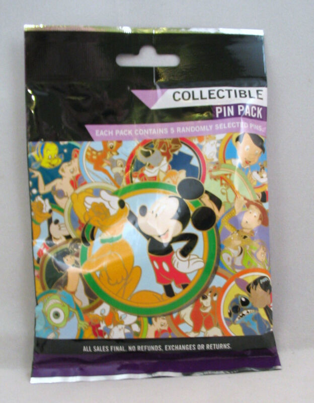 Disney Pin Collectible PLUTO BEST FRIENDS  Mystery Pack Random SEALED Set of 5