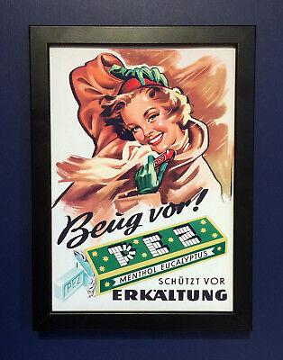 Pez Candy Dispenser Vintage 1950's Framed A4 Size Poster Shop Sign Advert