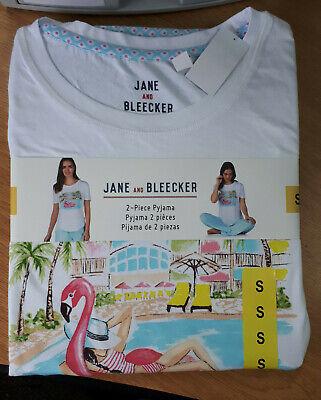 Womens Jane and Bleecker 2 piece pyjama set - Pool Design