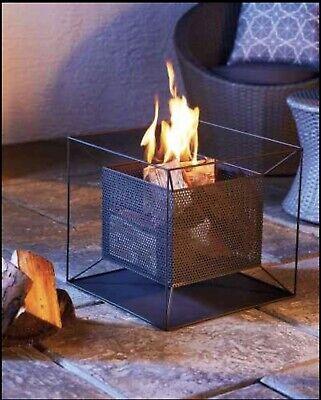 Garden Fire Pit Basket Patio Heater Log Wood Charcoal Burner Gardenline Black🔥