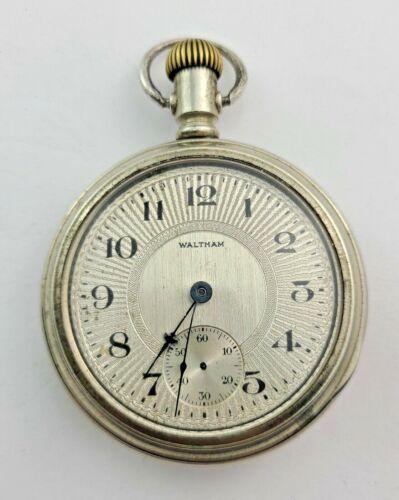 WALTHAM 845 21 JEWEL 18 SIZE MODEL 1892 RAILROAD GRADE PW DISPLAY CASE 1904