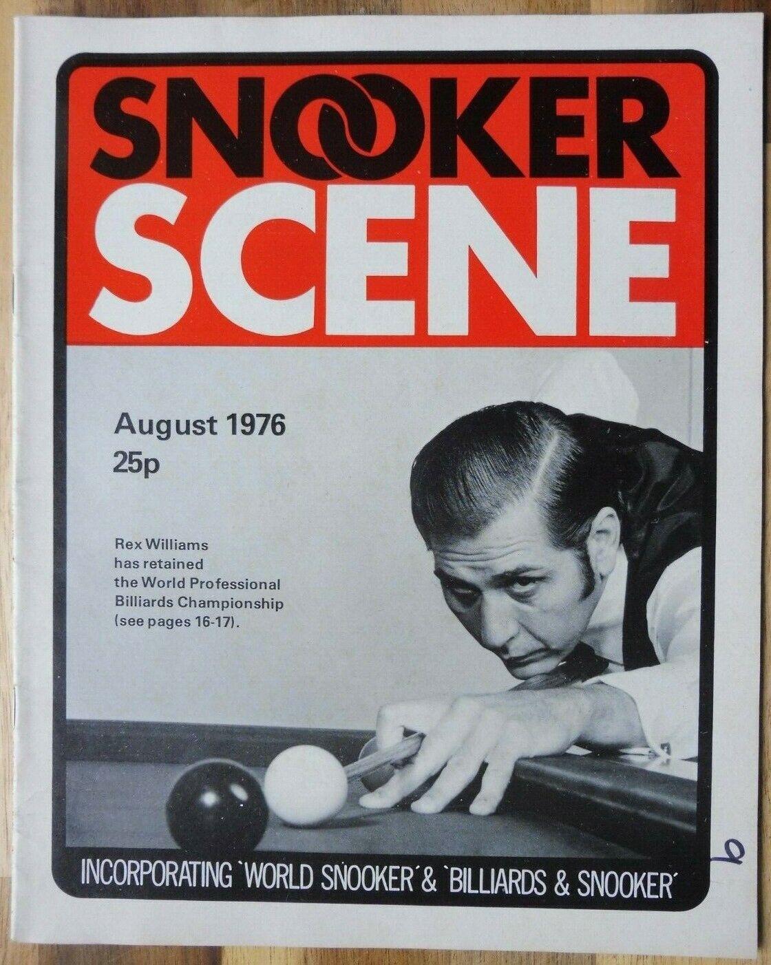 Snooker Scene Magazine, August 1976, Good Condition.