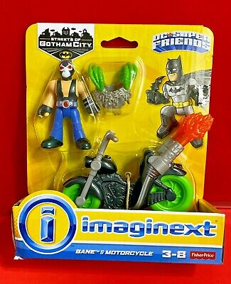 Imaginext DC Super Friends STREETS OF GOTHAM BANE & MOTORCYCLE FISHER PRICE NEW