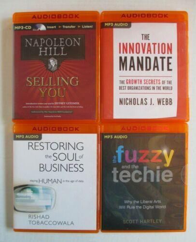 Lot, 4 Business Success Audiobooks MP3 CD Napoleon Hill + The Innovation Mandate