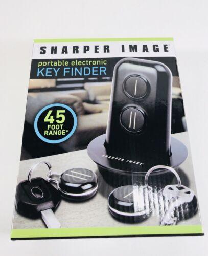 NEW SHARPER IMAGE PORTABLE ELECTRONIC KEY FINDER 45 FOOT RANGE