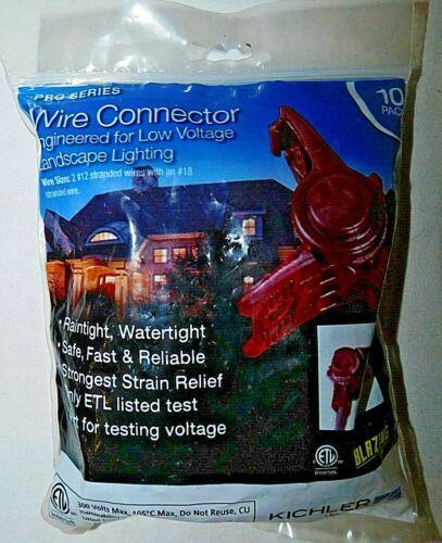 Kichler 15529BL Pro Series Wire Connector for 12V Landscape Lighting, 10 Pack
