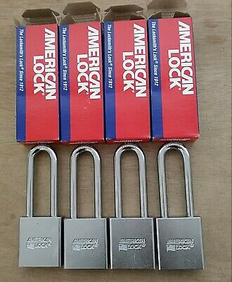 4 American 2 Inch Wide A3262wo Padlocks Small Format Ic Core Set Of 4 New In Box