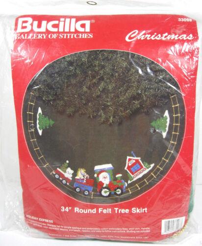 Bucilla Holiday Express Felt Tree Skirt Kit Santa Train Beads Sequins Christmas
