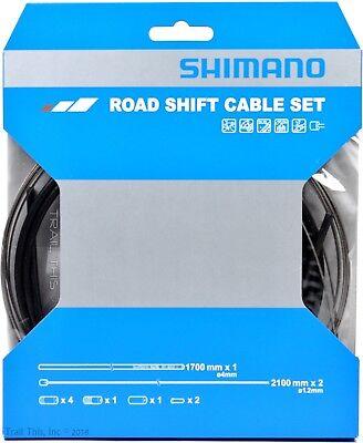 Shimano Road Bike Derailleur Shift Cable Set Stainless Steel Black SP41 (Road Derailleur Cable)