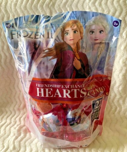 Disney Frozen II Valentines Day Printed Acrylic Heart Friendship Exchange 22 pk