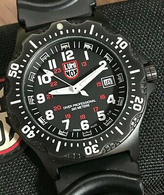 Luminox Diver Professional 8400 Black Ops Men's Watch, PVD, Box, Nice!