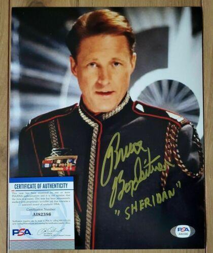 Bruce Boxleitner signed Babylon 5 Sheridan 8x10 autographed Photo PSA COA