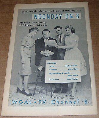 1961 Wgal Tv News Ad Joan Klein Bob Malick Nelson Sears Anne Herr Channel 8