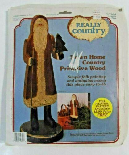 NEW - 1986 REALLY COUNTRY - Primitive St. Nick Santa Christmas Wood Craft Kit