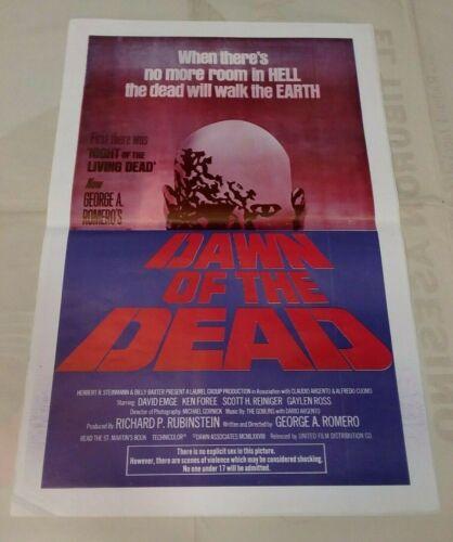 DAWN OF THE DEAD - 1978 Nicaragua Original Folded Movie Poster  DISPENIC INC