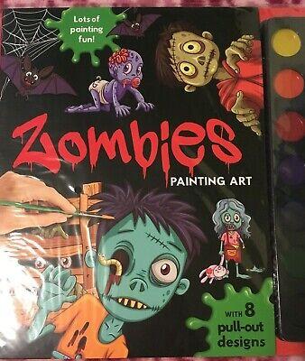 Kid Halloween Crafts Activities (Zombies Painting Art Activity Book Halloween Craft Painting Kids)