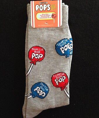 ks Lollipop Socks Men's Casual Gray Crew Socks (Tootsie Roll Lollipop)