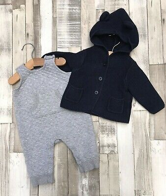 Baby Gap outfit 3-6 months baby boys clothes jacket & dungarees
