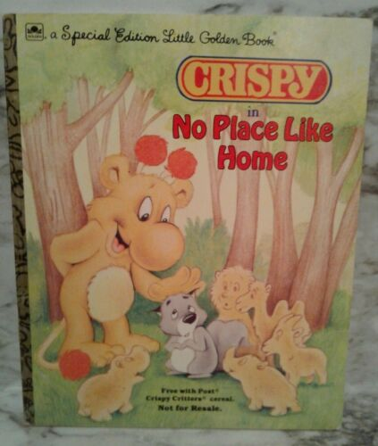 CRISPY CRITTERS Specia Ed. Little GOLDEN BOOK Cereal Premium NO PLACE LIKE HOME