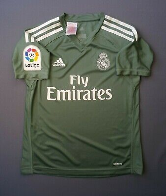2ac3ef5ef 5+ 5 Real Madrid adizero jersey kids 9-10 years 2019 goalkeeper shirt B31102  ig9
