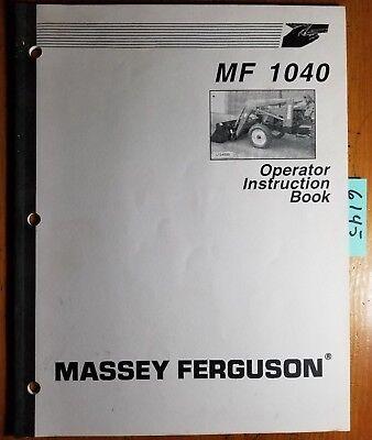 Massey Ferguson 1040 Loader Owner Operator Instruction Book Manual 1449950m2 03