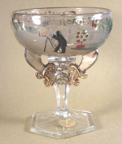 1911 Shriner Souvenir Glass - w/Rochester Kodak Camera w/Pittsburgh Glass Label