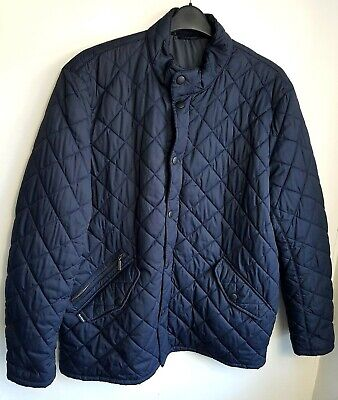 BARBOUR MENS QUILTED JACKET XL NAVY BLUE