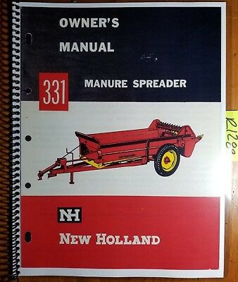 New Holland 331 Manure Spreader Owners Operators Manual O331-7-2m-3-63w 363