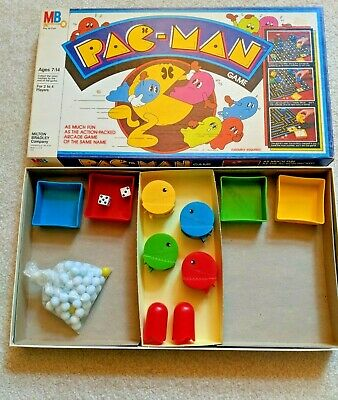 1980/1982 Milton Bradley MB Vintage Pac-Man Complete Board Game _Red Ghosts
