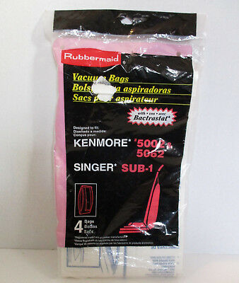 3 Kenmore 5002 5062 Sunger Sub 1 Vacuum Bags 3 bags opened package Rubbermaid, used for sale  Shipping to India