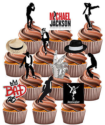 Michael Jackson Themed - Fun Fully Edible Birthday Cup Cake Toppers Decorations](Michaels Cake Toppers)