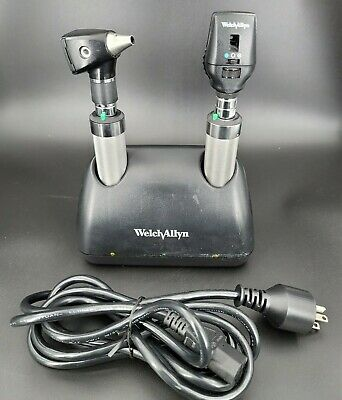 Welch Allyn 3.5 Volt Ni-cad Desk Charger Set Otoscope Ophthalmoscope Handle