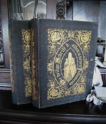 Riesige Bibel mit 230 Bildern von Doré - FOLIO - Band I und II